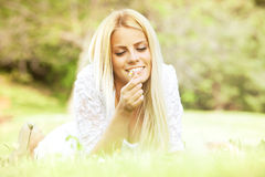 Beautiful young woman in the nature Stock Photography