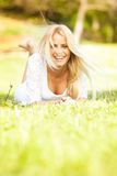 Beautiful young woman in the nature Royalty Free Stock Photos