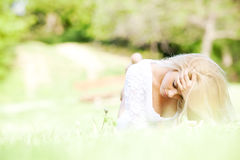 Beautiful young woman in the nature Royalty Free Stock Photography