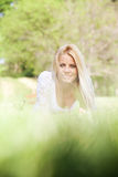 Beautiful young woman in the nature Royalty Free Stock Image