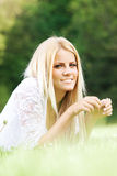 Beautiful young woman in nature Royalty Free Stock Image