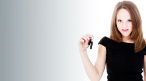 Beautiful Young Woman With New Car Keys Royalty Free Stock Photography