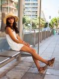 Beautiful young woman in Nice Stock Image