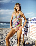 Beautiful young woman in a one-piece swimsuit Royalty Free Stock Photo