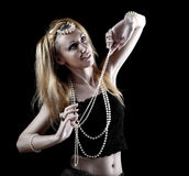 Beautiful young woman with ornaments in east style Royalty Free Stock Photos