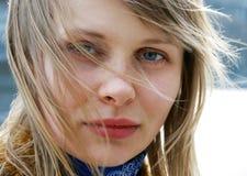 beautiful young woman outdoor Royalty Free Stock Photos
