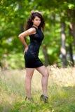 Beautiful young woman outdoor Stock Photos