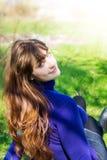Beautiful young woman outdoor Stock Photo