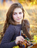 Beautiful young woman outdoor Royalty Free Stock Photos