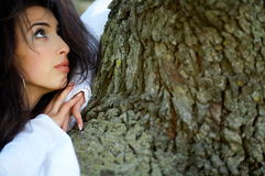 Beautiful young woman outdoor Royalty Free Stock Images