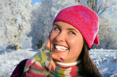 Beautiful young woman outdoor Royalty Free Stock Photography