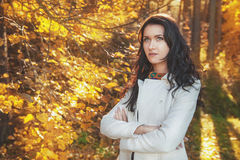 Beautiful young woman outdoor Stock Photography