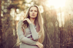 Beautiful young woman. Outdoor portrait Stock Photo