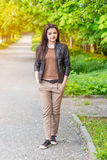 Beautiful young woman outdoor portrait Royalty Free Stock Image