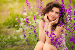 Beautiful young woman outdoors Stock Photo