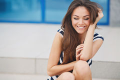 Beautiful Young Woman Outdoors. Stock Image