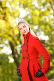 Beautiful young woman outdoors Royalty Free Stock Photo