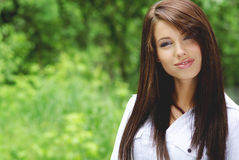 Beautiful young woman outdoors Royalty Free Stock Image
