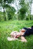 Beautiful Young Woman Outdoors. Royalty Free Stock Image