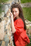 Beautiful young woman outdoors enjoying nature Royalty Free Stock Images