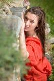 Beautiful young woman outdoors enjoying nature Stock Images
