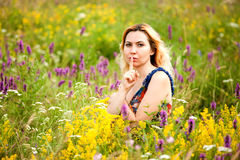 Beautiful Young Woman in outdoors Royalty Free Stock Images