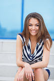 Beautiful young woman outdoors. Royalty Free Stock Photography