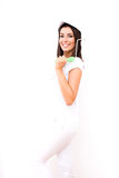 Beautiful young woman painting a Apartment Royalty Free Stock Images