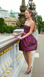 Beautiful young woman in Paris Royalty Free Stock Image