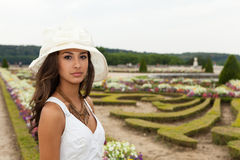Beautiful young woman in Paris Stock Photos