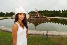 Beautiful Young Woman in Paris Stock Photo
