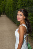 Beautiful Young Woman in Paris Stock Photo