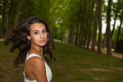 Beautiful Young Woman in Paris Stock Photography