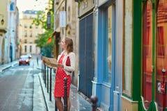 Beautiful young woman in Paris Stock Image