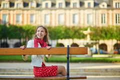 Beautiful young woman in Paris Royalty Free Stock Photography