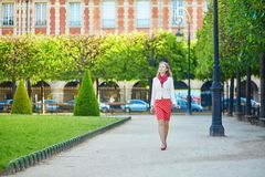 Beautiful young woman in Paris Royalty Free Stock Photos