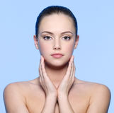 Beautiful young woman with  perfect  skin Stock Photos