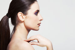 Beautiful young woman with perfect skin. Royalty Free Stock Images
