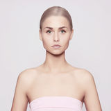Beautiful young woman. With perfect skin and blond hair Stock Photography