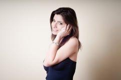 Beautiful young woman on the phone Fotografia Stock
