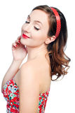 Beautiful young woman with pin-up make-up Royalty Free Stock Photo