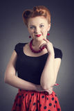 beautiful young woman in a pin-up. Stock Photo