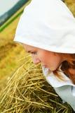 Beautiful young woman pining Stock Photography