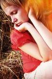 Beautiful young woman pining Stock Photo