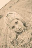 Beautiful young woman pining Stock Photos