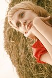 Beautiful young woman pining Stock Images