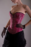 Beautiful young woman in pink corset Royalty Free Stock Photography