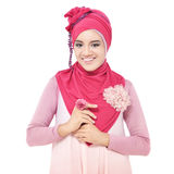 Beautiful young woman with a pink hijab Royalty Free Stock Photo