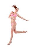 Beautiful young woman in pink swimwear Stock Images