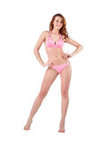 Beautiful young woman in pink swimwear Royalty Free Stock Image